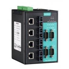 Преобразователь NPort S8458-4S-SC-T 4-port RS-232/422/485, 4 x 10/100 Ethernet, 4 x 100SM Fiber, SC, 12-48 VDC