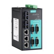 Преобразователь NPort S8455I-SS-SC 4 port RS-232/422/485, 3 x 10/100 Ethernet, 2 x 100SM Fiber, SC, 12-48 VDC