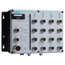 TN-5818-2GTXBP-LV-HV L3 switch, 2 x 10/100/100BaseT(X), 16 x 10/100BaseT(X), M12 connectors, bypass, dual power (LV and HV)
