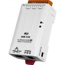 Модуль tGW-732 CR Tiny Modbus/TCP to RTU/ASCII gateway with PoE and 3 RS-232 Ports (RoHS)