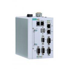 Компьютер MC-1122-E2-T x86 embedded computer with Intel Atom dual-core E3826 processor, 1 CFast socket, 1 VGA, 2 USBs, 4 GigaLANs, 4 serial ports, 4 DIs, 4 DOs, 1 mini-PCIe socket, 12 to 36 VDC power, 4 GB RAM pre-installed